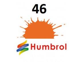 Humbrol barva (46) emailová orange - matt