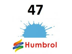 Humbrol barva (47) emailová, akryl Sea Blue - Gloss