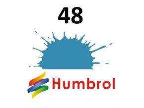 Humbrol barva (48) emailová Mediterranean Blue - Gloss