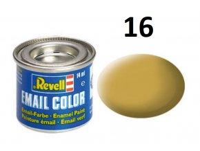 Revell barva emailová - 32116: matná pískově žlutá (sandy yellow mat)