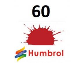 Humbrol barva (60) emailová, akryl Scarlett - Matt