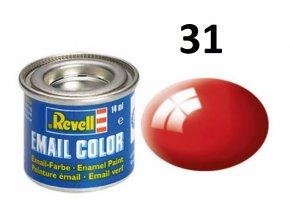 Revell barva emailová - 32131: leská ohnivě rudá (fiery red gloss)