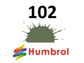 Humbrol barva (102) emailová, akrylová Army Green - Matt