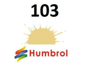 Humbrol barva (103) emailová, akrylová Cream - Matt