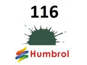 Humbrol barva (116) emailová US Dark Green - Matt
