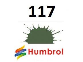Humbrol barva (117) emailová, akrylová US Light Green - Matt