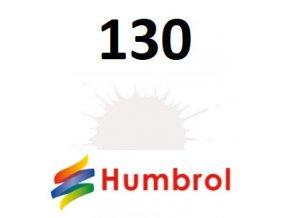Humbrol barva (130) emailová, akrylová White - Satin