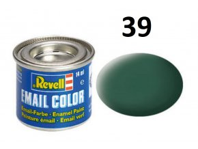 Revell barva emailová - 32139: matná tmavě zelená (dark green mat)