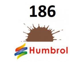 Humbrol barva (186) emailová, akrylová Brown - Matt