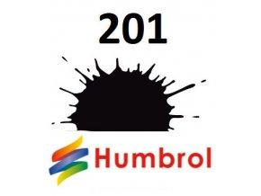 Humbrol barva (201) emailová, sprej Black - Metallic