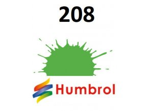 Humbrol barva (208) emailová Fluorescent Signal Green - Gloss