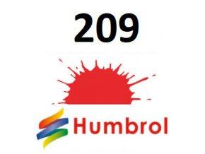Humbrol barva (209) emailová, akrylová Fluorescent Fire Orange - Gloss