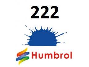 Humbrol barva (222) emailová Moonlight Blue - Metallic