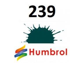 Humbrol barva (239) emailová, akrylová British Racing Green - Gloss