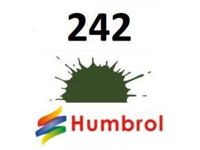 Humbrol barva (242) emailová RLM 71 Dunkelgrun - Matt