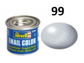 Revell barva emailová - 32199: metalická hliníková (aluminium metallic)