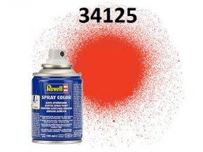 Revell barva ve spreji - 34125: matná světle oranžová (luminous orange mat)
