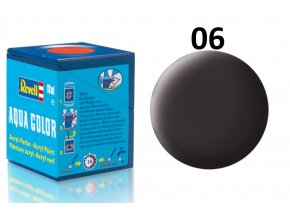 Revell barva akrylová - 36106: matná dehtově černá (tar mat)