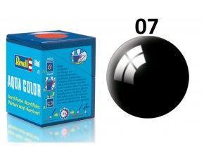 Revell barva akrylová - 36107: leská černá (black gloss)