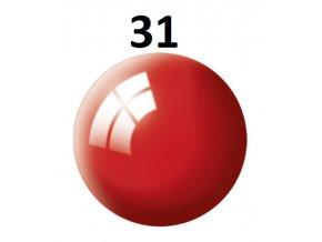 Revell barva (31) akrylová nebo emailová (fiery red gloss)