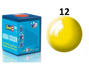 Revell barva akrylová - 36112: leská žlutá (yellow gloss)