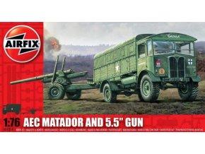 Airfix auto AEC Matador + 5.5 Gun 1:76 A01314