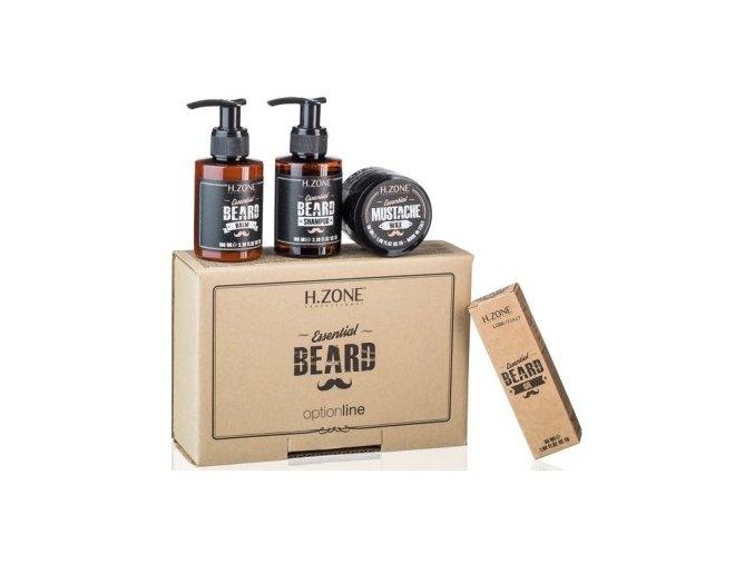 408 H Zone komplet 4 produktů pěstící kosmetiky na vousy