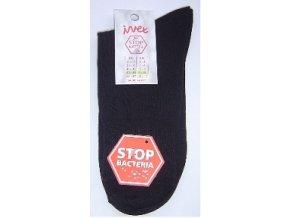 Společenské ponožky s ionty stříbra - černá barva (velikost 41-42)