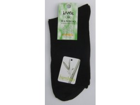 Společenské ponožky z BAMBUSOVÉHO vlákna - černé (velikost 46-47)
