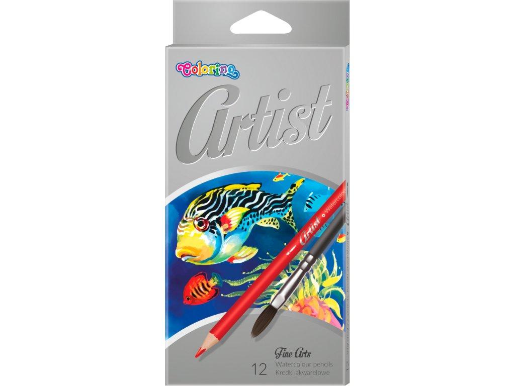 Artist pastelky akvarelove 12 barev stetec