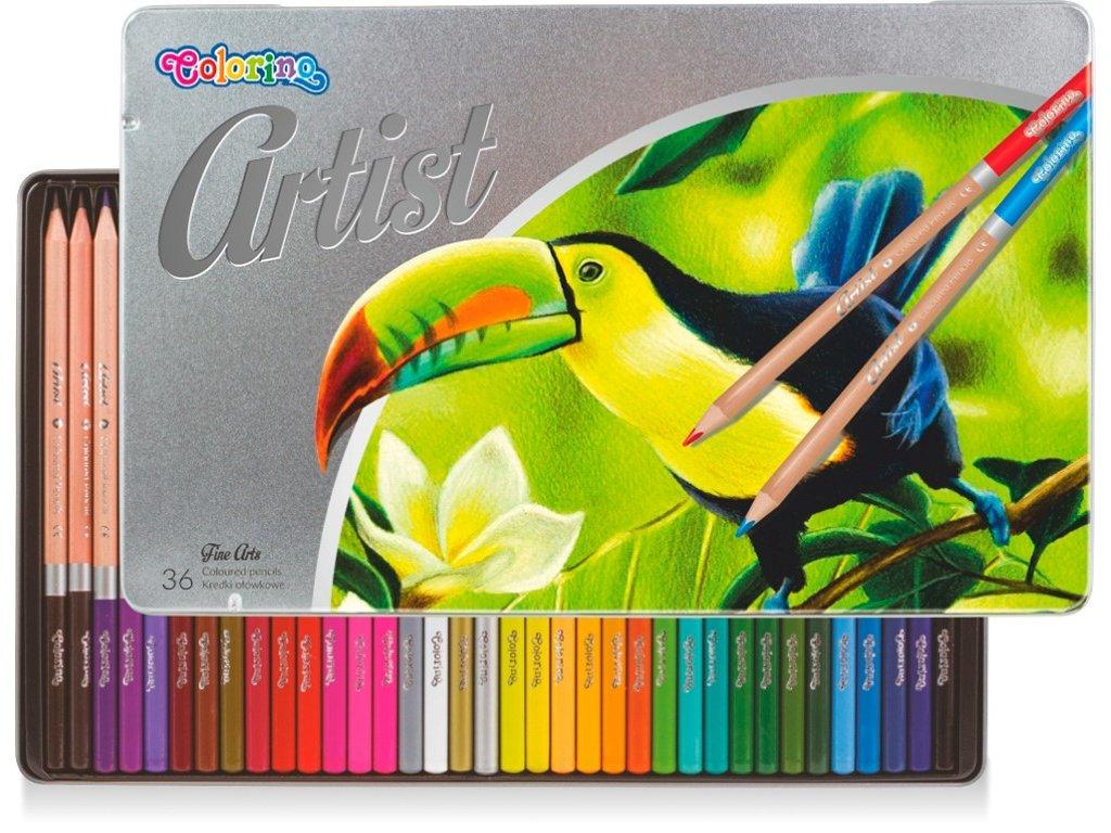 pastelky artist colorino 36 ks kovovy box