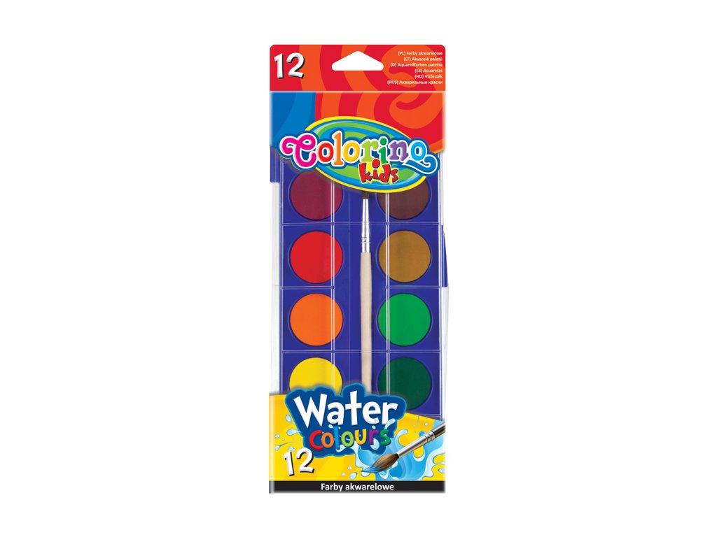 vodove barvy colorino 12 barev stetec