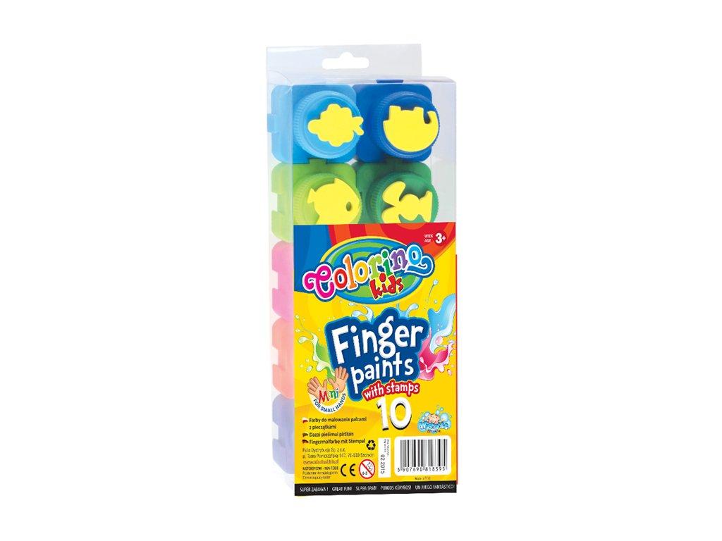 prstove barvy s razitky 10 ks