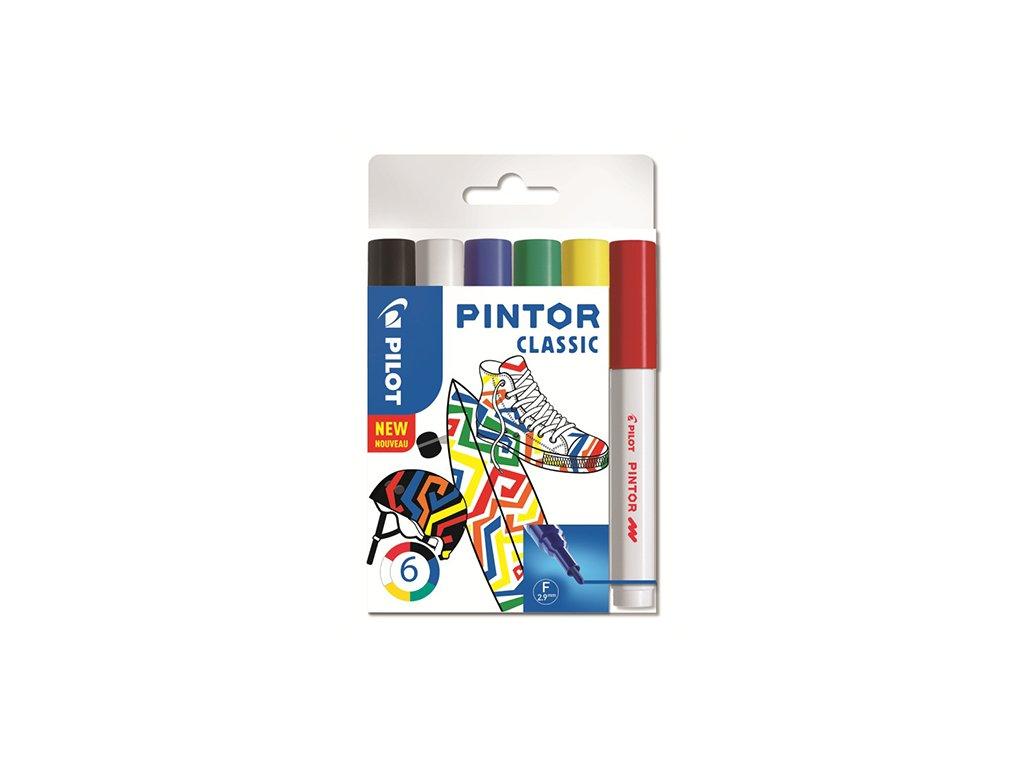 sada klasickych akrylovych fixu 6 ks pilot pintor f 1mm