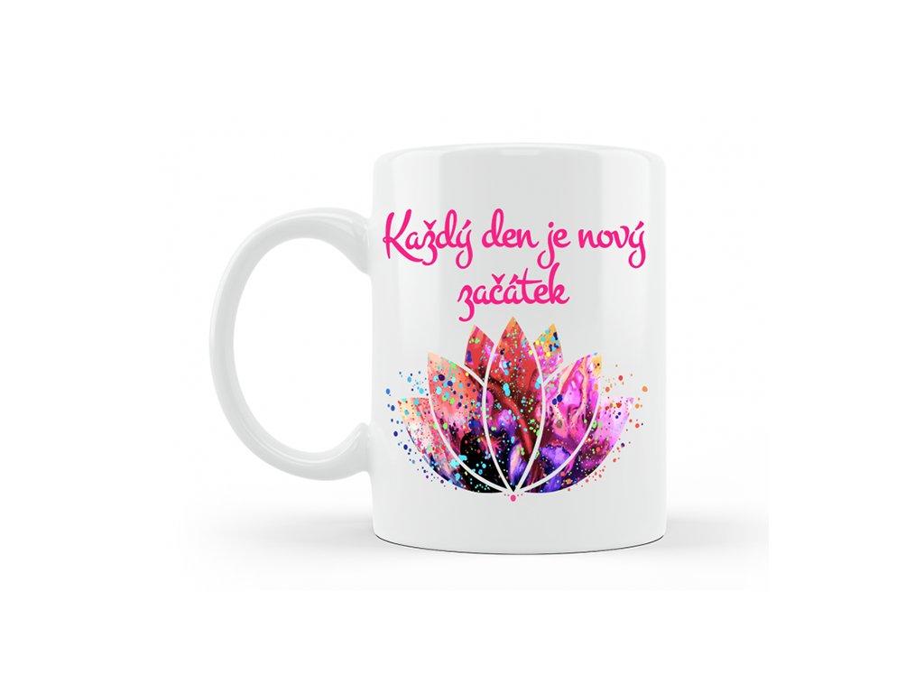 porcelanovy hrnecek mandala lotos novy zacatek