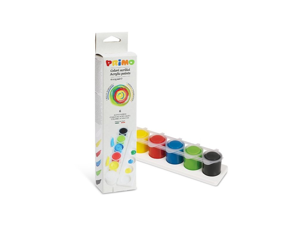 akrylova barva primo 6x25ml kelimky