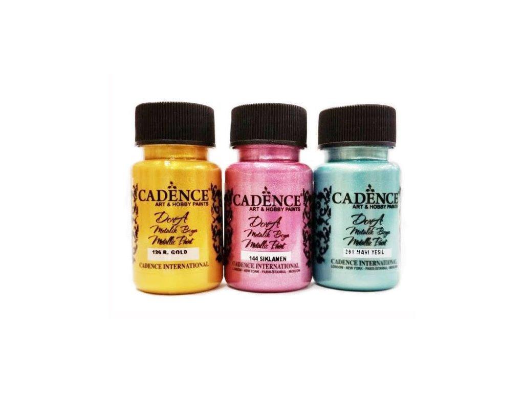 Metalická akrylová barva Cadence Dora 50ml - více barev