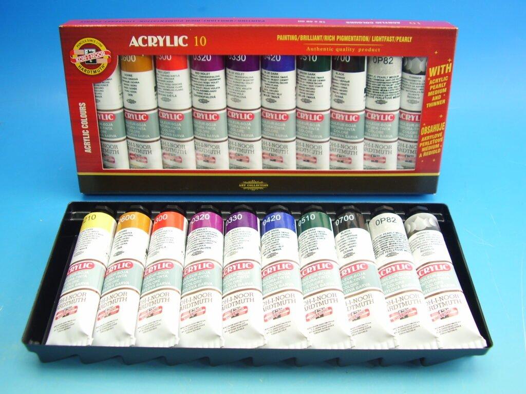 sada akrylových barev 8+2x40ml