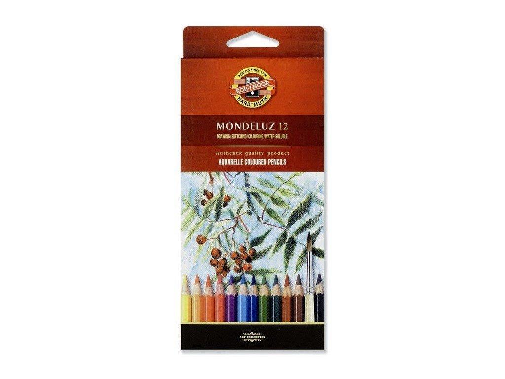 Mondeluz akvarelove pastelky kohinoor 12ks