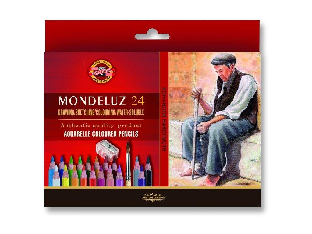 Mondeluz akvarelove pastelky kohinoor 24 ks