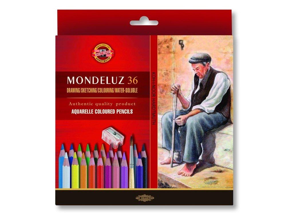 Mondeluz akvarelove pastelky kohinoor 36 ks
