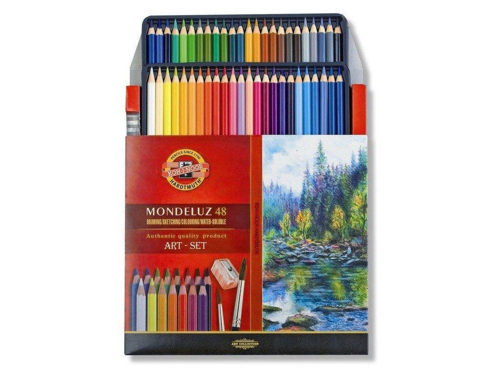 Mondeluz akvarelove pastelky kohinoor 48ks