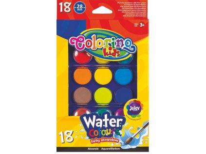vodovky velke colorino 18 barev 2 stetce