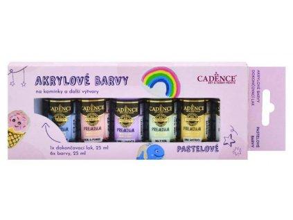 sada akrylovych barvev na kaminky pastelove cadence