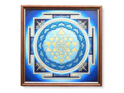 mandala sri jantra blue 1