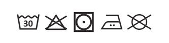 prací symboly recyklovaná bavlna