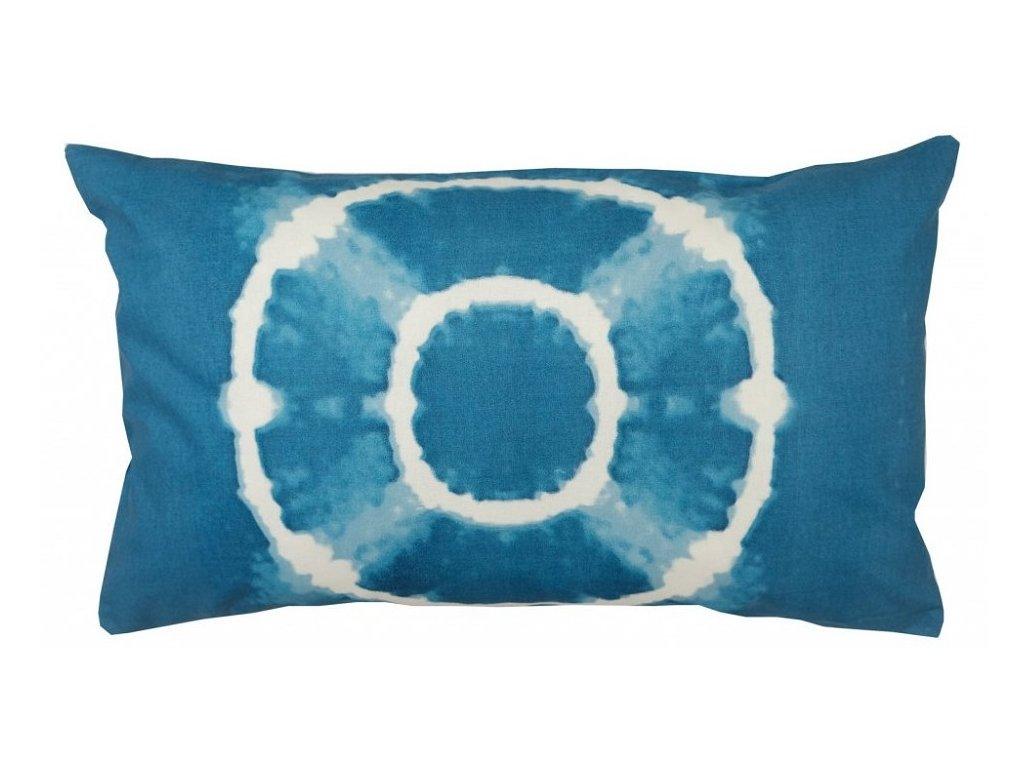 17106 modry batikovany povlak na polstar 30x50 cm