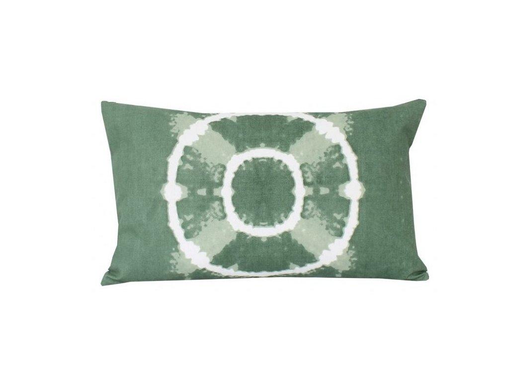 17109 zeleny batikovany povlak na polstar 30x50 cm