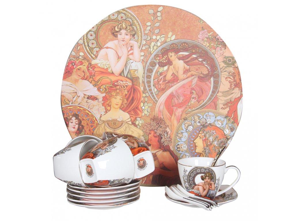 Sada porcelánu Alfons Mucha