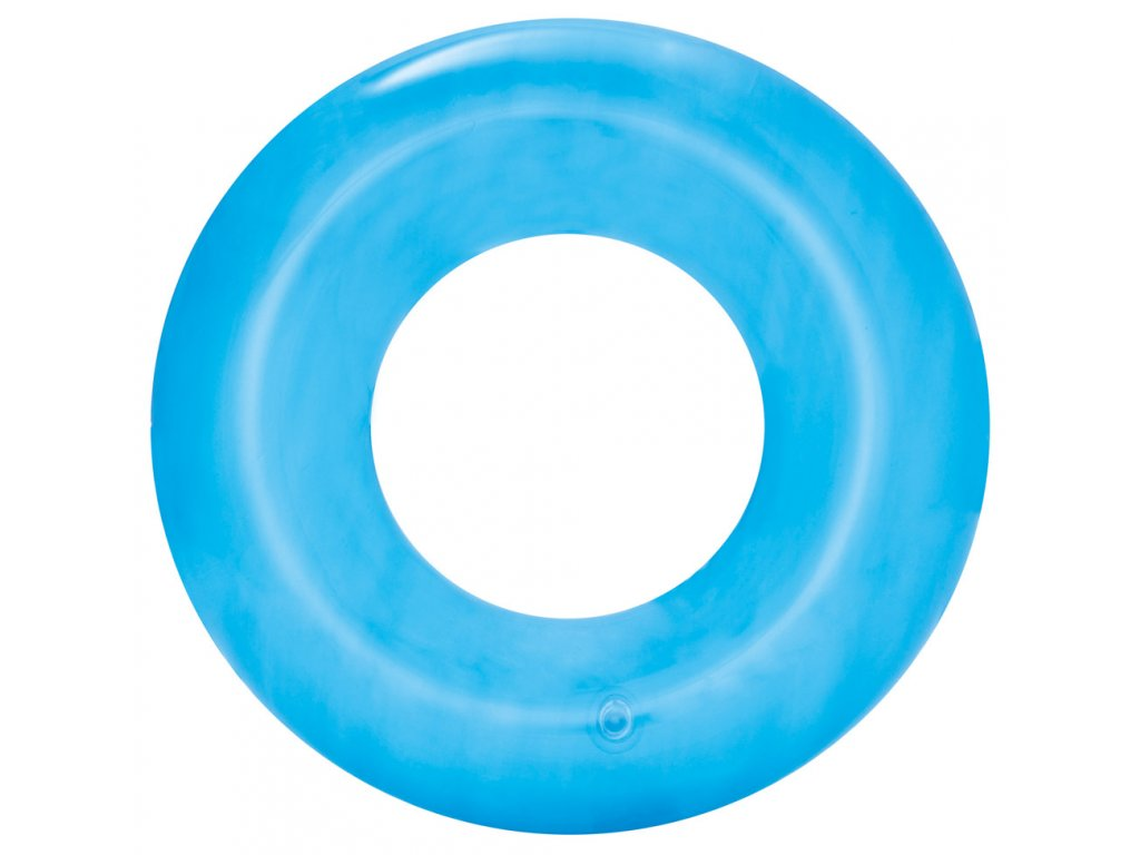 36022 Nafukovací kruh Transparent 51 cm růžová